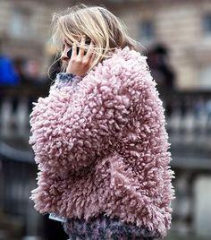 Marshmallow pink coat | Image via whowhatwear.com