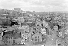 La côte du Palais en 1966 Quebec Montreal, Old Quebec, Old Montreal, Quebec City, Chute Montmorency, Saint Roch, Chateau Frontenac, Le Petit Champlain, Canada