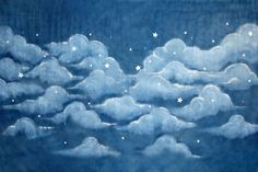 Navy Blue Starry Night Sky Backdrop Vintage Inspired by DAPPSY