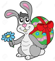 Illustration about Small Easter bunny with egg - vector illustration. Illustration of nature, present, cartoon - 7913535 Easter Bunny Pictures, Happy Easter Sunday, Egg Vector, Easter Bunny Eggs, Writing Paper, Illustration, Rabbit, Royalty Free Stock Photos, Cartoon