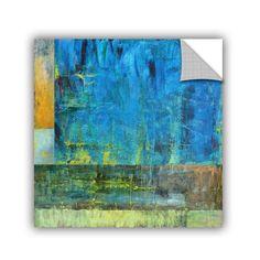 ArtWall Kevin Calkins ' Essence Of Blue' Artappealz Removable Wall Art