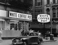 Had one of these in Laurel, too.White Coffee Pot 301 West Baltimore Street, Baltimore, Maryland Not dated (ca. 1956 - The Greatest Year Ever) Cronhardt & Sons inch gelatin silver print Triangle Sign Company Collection Baltimore City, Baltimore Maryland, Old Pictures, Old Photos, Rare Photos, Vintage Photos, Vintage Poster, Vintage Signs, White Coffee
