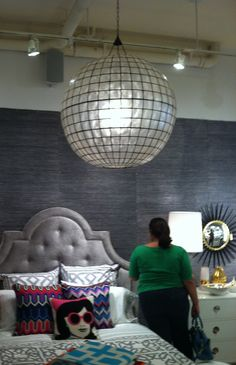 Loved this light fixture in the Jonathan Adler store
