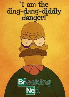 """""""The Simpson's"""" Ned Flanders as """"Breaking Bad""""'s Heisenberg"""