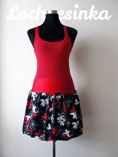 NESSIE IN BLOOM červeno-černá Bloom, Ballet Skirt, Skirts, Fashion, Moda, Tutu, Fashion Styles, Skirt