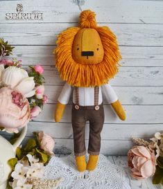 Сute handmade things for the soul and the interior por ForSoulAndInterior Softies, Plushies, Peluche Lion, Lion Toys, Doll Toys, Dolls, Fabric Animals, Fabric Toys, Handmade Christmas Gifts
