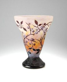 Cameo glass vase by Daum Frères, France 1910