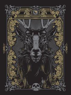 Deer Illustration    Designed by Hydro74