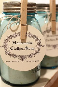 Do you make your own Homemade Laundry Soap? Do your friends and family think you're kinda crazy? :-)  Give them a pretty sample jar of your homemade soap to try for themselves as a Christmas gift. They will soon see the light! ;-)