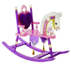 Levels of Discovery Princess Rocking Horse - RAB20001 $135 Removable padded backrest with cut-out detail Silky satin mane & ears Regal banner with gold tasselsDetails & Features: Removable padded backrest Satin mane and ears Banner with tassels Understamp beneath the seat for personalization Rocking Horse/Kiddie Ups/Princess Collection: