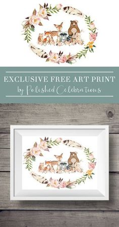 Looking for a gorgeous boho woodland art print? This free printable would look beautiful in a baby boy or baby girl nursery. Easy, peasy, inexpensive home decor! This phenomenal print is an exclusive bonus from Polished Celebrations for the Home Beautifully family. Hop to the link to download! And be sure to check out more Polished Celebrations goodies from her Etsy shop (the link is included in the original post!)