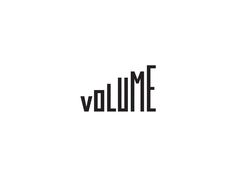 Volume by Max Lapteff PopularYou can find Typographic logo and more on our website.Volume by Max Lapteff Popular Inspiration Logo Design, Typography Inspiration, Body Inspiration, Creative Logo, Creative Design, Corporate Design, Branding Design, Logo Design Trends, Type Logo
