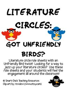 An Unfriendly Bird (better known as Angry Birds) inspired Literature Circles packet that can be used throughout the school year, or can be used for...