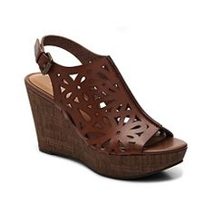Shop Nine West Eternal Wedge Sandal Cute shoes I love the shade of bown  the cutouts and the medum height wedge heel
