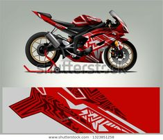 Find Motorcycle Wrap Design Ready Print Concept stock images in HD and millions of other royalty-free stock photos, illustrations and vectors in the Shutterstock collection. R6 Motorcycle, Motorcycle Decals, Bike Art, Bike Design, Cbr, Motogp, Ninja, Royalty Free Stock Photos, Garage