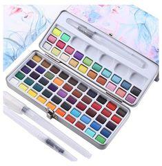 Brush Pen Art, Watercolor Paint Set, Paint Supplies, Cute School Supplies, Craft Materials, Art Materials List, Art Techniques, Art Drawings, Drawing Art