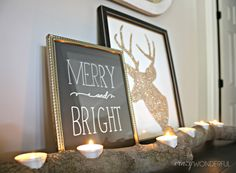 glitter reindeer & the font.....love it all!