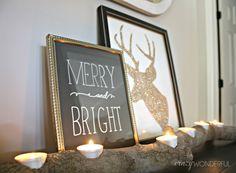 Crazy Wonderful: Glitter Reindeer