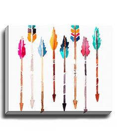 Look at this #zulilyfind! Arrows Wrapped Canvas by Bashian Home #zulilyfinds