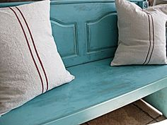 I might need me some faux grainsack pillows.  Just got the material and Lord knows I have the paint...#decor