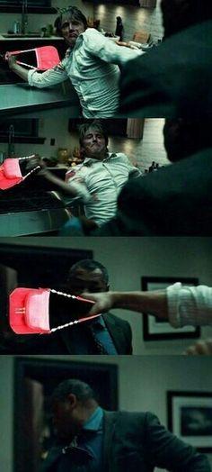 "Hannibal ""don't be fucking rude"" Lecter Hannibal Funny, Nbc Hannibal, Hannibal Lecter Series, Will Graham, When Im Bored, Hugh Dancy, Mads Mikkelsen, Really Funny, Memes"