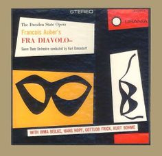 Francois Auber, Fra Diavolo Performed by Dresden State Opera Saxon State Orchestra Karl Elmendorff Vinyl Record Album Urania 2 LP Set from 1954. For sale  by BrothertownMusic, $28.00