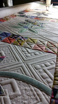 Fabulous Background Quilting for Applique! My newest iquilt class! Long Arm Quilting Machine, Machine Quilting Designs, Quilting Ideas, Quilting Tutorials, Antique Quilts, Vintage Quilts, Quilting Rulers, Longarm Quilting, Hand Quilting