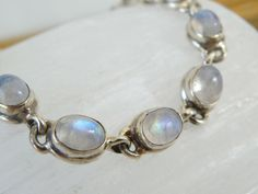 Vintage Rainbow Moonglow Moonstone Sterling Silver 925 Bracelet #Handmade #Chain Sterling Jewelry, Gemstone Jewelry, Sterling Silver, Wholesale Jewelry, Beaded Bracelets, Rainbow, Jewels, Chain, Gemstones