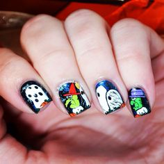 Peanuts halloween nails