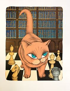 František PON. Knihovna (Library) Crazy Cat Lady, Crazy Cats, Kitsch, Orange Cats, Great Paintings, Cat Party, All About Cats, Love Art, Cat Lovers