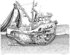 Boat Drawing, Ship Drawing, Plywood Boat, Wood Boats, Alaska Salmon Fishing, Shanty Boat, The Wheelhouse, Fishing Vessel, Boat Projects