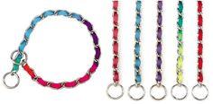 CHOKE CHAIN w/ NYLON WEBBING Collar - 7 Lengths! Dog Pet Training Choker in Pet Supplies, Dog Supplies, Collars   eBay