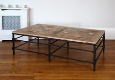 HOXTON Reclaimed Wood and Metal Coffee Table
