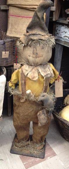 primitive scarecrow designed and handmade by Seasonal Prims