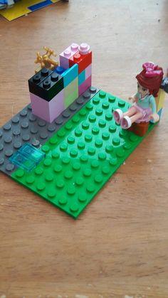 Lego bathroom Complete with Mia on the toilet! #6yroldlegogenius