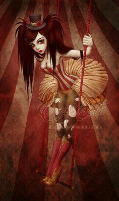 """The Flying Trapeze"" by H.M. Gray aka Enamorte on DeviantArt"