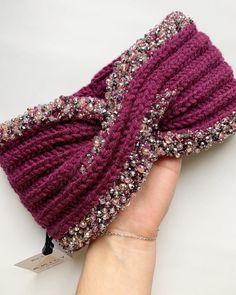 Knit Headband Pattern, Knitted Headband, Winter Headbands, Handmade Ideas, Crochet Shawl, Scarves, Knitting, Fashion, Head Bands