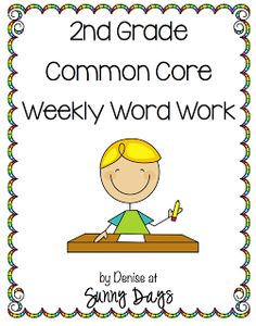 2nd Grade Common Core Word Work & links to other great 2nd grade ideas