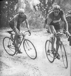 Gino Bartali & Fausto Coppi grinding it out .....