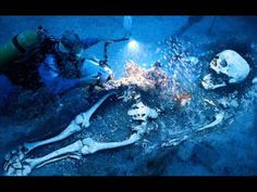 Yup.  Giant humanoid skeletons are found underwater too.