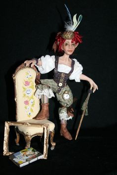 Miniature Steampunk Pixie by LoreleiBlu on Etsy, $65.00 This doll is in a feature article, Once Upon A Time in the July/August issue of Dollhouse Miniatures Magazine 2013