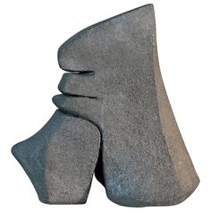 Carved Sandstone Sculpture by Josette Barbier, 1980 | From a unique collection of antique and modern sculptures at https://www.1stdibs.com/furniture/decorative-objects/sculptures/