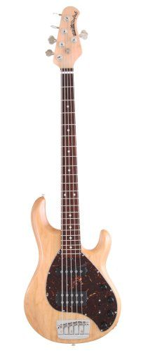 Ernie Ball Music Man Stingray 5 String Bass, Natural, Rosewood Board ** Want additional info? Click on the image.