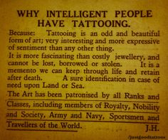 Intelligent people, tattoos