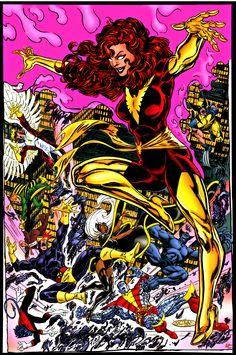 Dark Phoenix Jean Grey vs. the X-men