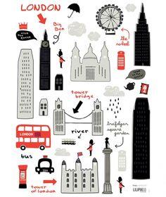 London tour http://www.lilipinso.com/fr/planche-stickers-london-tour