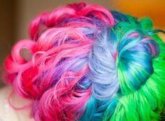 #hair, #pink, #blue, #green, #colourful