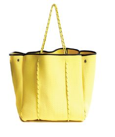 1f79649184d0 Large Yellow Tote  120.00 Our perforated neoprene(wetsuit material!) totes  and pouches are