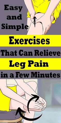 1b7ac5031bb4ad Easy and Simple Exercises That Can Relieve Leg Pain in a Few Minutes  #healthfitnessexercise
