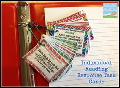 Using Task Cards for Reading Response! Easy differentiation and a great way to provide student choice.